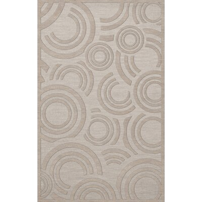 Dover Tufted Wool Putty Area Rug Rug Size: Rectangle 12 x 18