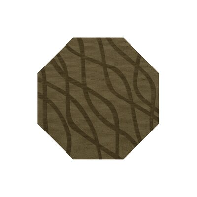 Dover Tufted Wool Leaf Area Rug Rug Size: Octagon 6
