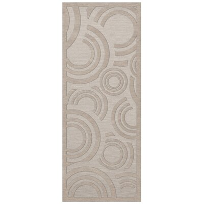 Dover Tufted Wool Putty Area Rug Rug Size: Runner 26 x 12