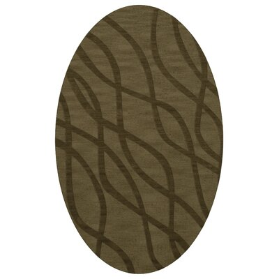 Dover Tufted Wool Leaf Area Rug Rug Size: Oval 9 x 12