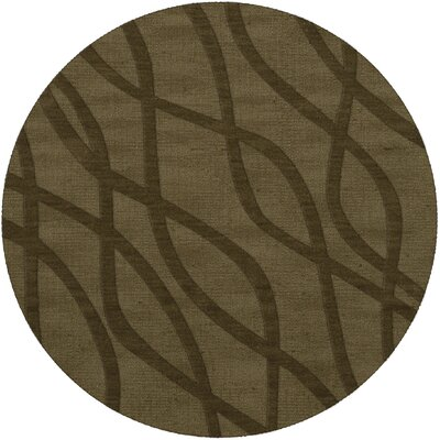 Dover Tufted Wool Leaf Area Rug Rug Size: Round 4