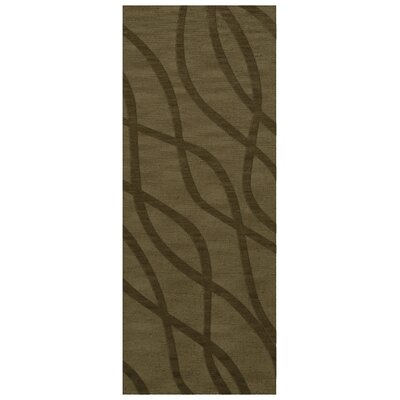 Dover Tufted Wool Leaf Area Rug Rug Size: Runner 26 x 8