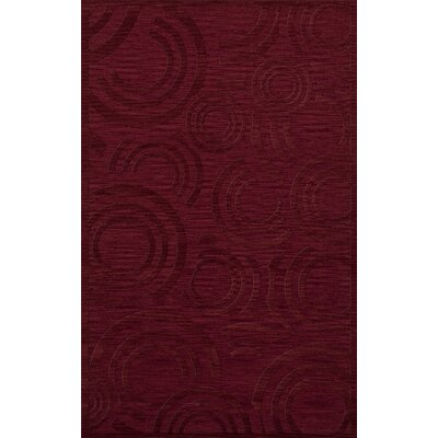 Dover Tufted Wool Rich Red Area Rug Rug Size: Rectangle 5 x 8