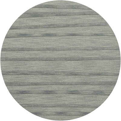 Dover Tufted Wool Sea Glass Area Rug Rug Size: Round 6