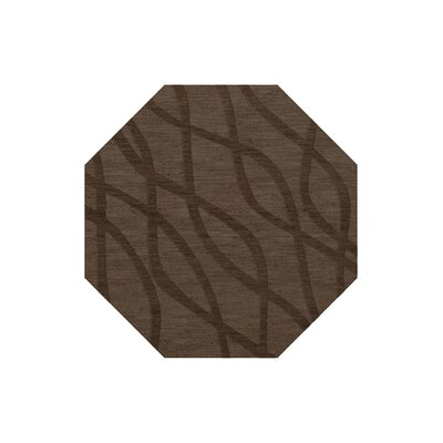 Dover Tufted Wool Mocha Area Rug Rug Size: Octagon 12