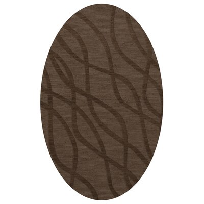 Dover Tufted Wool Mocha Area Rug Rug Size: Oval 6 x 9