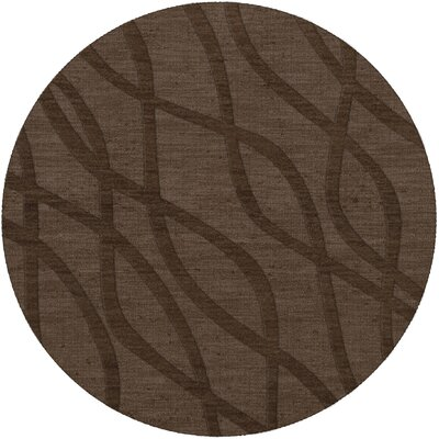 Dover Tufted Wool Mocha Area Rug Rug Size: Round 8