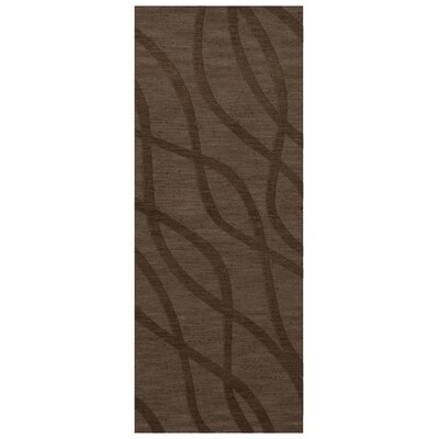 Dover Tufted Wool Mocha Area Rug Rug Size: Runner 26 x 10