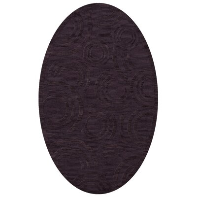 Dover Tufted Wool Grape Ice Area Rug Rug Size: Oval 3' x 5'