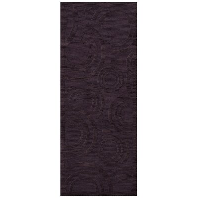 Dover Tufted Wool Grape Ice Area Rug Rug Size: Runner 2'6