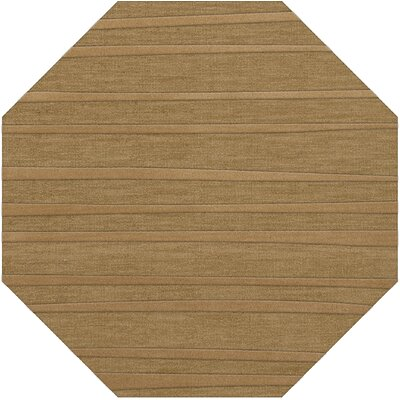 Dover Tufted Wool Wheat Area Rug Rug Size: Octagon 10