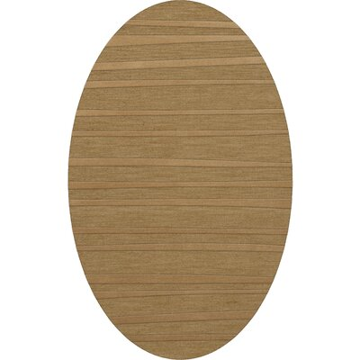 Dover Tufted Wool Wheat Area Rug Rug Size: Oval 9 x 12