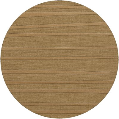 Dover Tufted Wool Wheat Area Rug Rug Size: Round 12