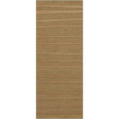 Dover Tufted Wool Wheat Area Rug Rug Size: Runner 26 x 8