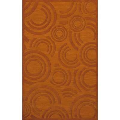 Dover Tufted Wool Orange Area Rug Rug Size: Rectangle 5 x 8