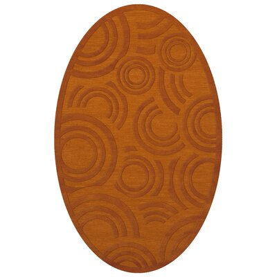Dover Tufted Wool Orange Area Rug Rug Size: Oval 6 x 9