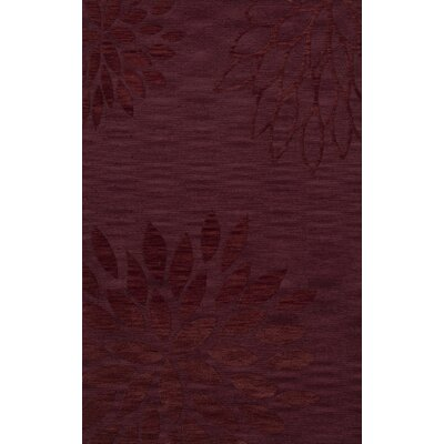 Bao Burgundy Area Rug Rug Size: 5 x 8