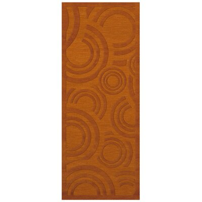 Dover Tufted Wool Orange Area Rug Rug Size: Runner 26 x 10
