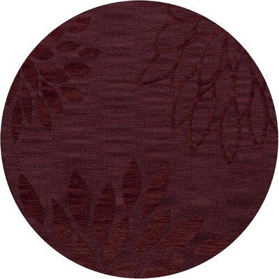 Bao Burgundy Area Rug Rug Size: Round 8