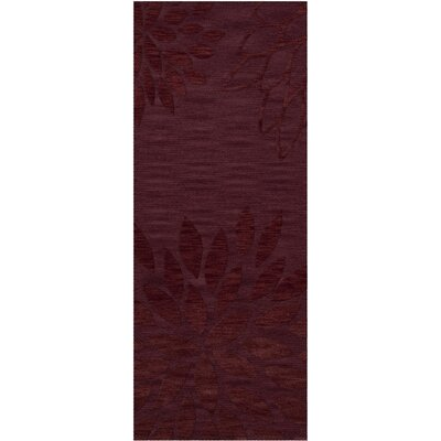 Bao Burgundy Area Rug Rug Size: Runner 26 x 8
