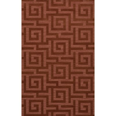 Dover Tufted Wool Coral Area Rug Rug Size: Rectangle 9 x 12