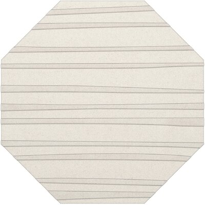 Dover Tufted Wool Snow Area Rug Rug Size: Octagon 6