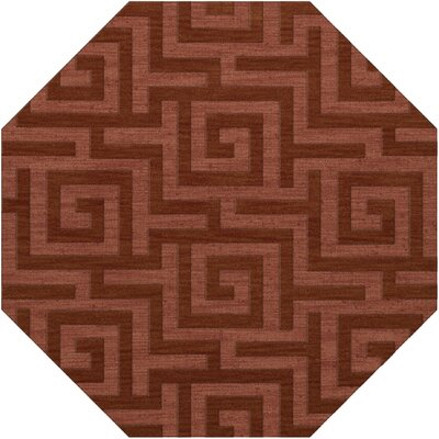 Dover Tufted Wool Coral Area Rug Rug Size: Octagon 8'
