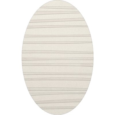 Dover Tufted Wool Snow Area Rug Rug Size: Oval 4' x 6'