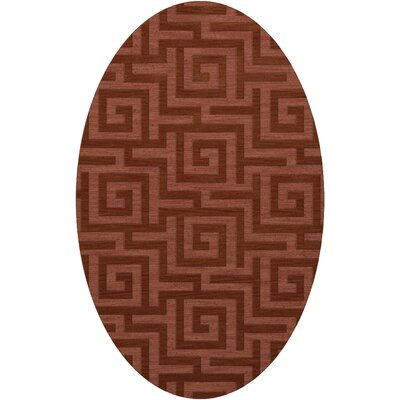 Dover Tufted Wool Coral Area Rug Rug Size: Oval 6 x 9