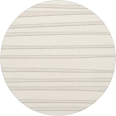 Dover Tufted Wool Snow Area Rug Rug Size: Round 4
