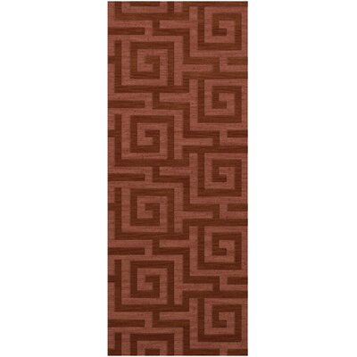 Dover Tufted Wool Coral Area Rug Rug Size: Runner 26 x 8