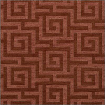 Dover Tufted Wool Coral Area Rug Rug Size: Square 12