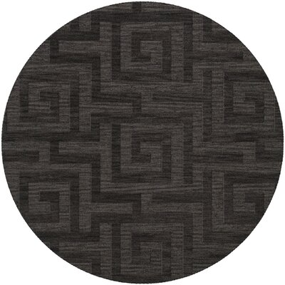 Dover Tufted Wool Ash Area Rug Rug Size: Round 4