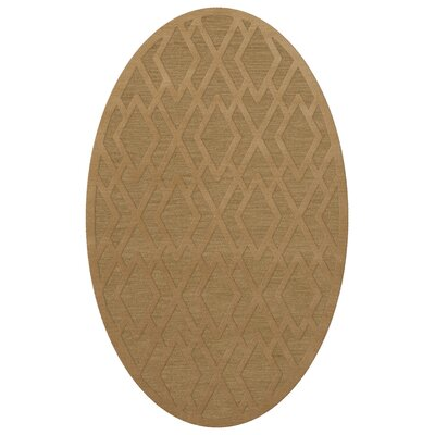 Dover Tufted Wool Wheat Area Rug Rug Size: Oval 6 x 9