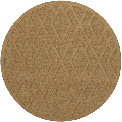 Dover Tufted Wool Wheat Area Rug Rug Size: Round 6