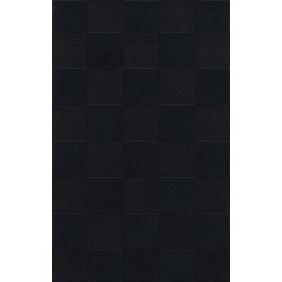 Dover Tufted Wool Black Area Rug Rug Size: Rectangle 9 x 12