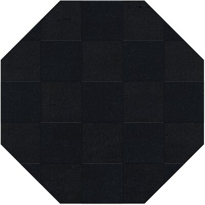 Dover Tufted Wool Black Area Rug Rug Size: Octagon 4