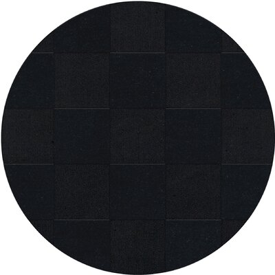 Dover Tufted Wool Black Area Rug Rug Size: Round 6