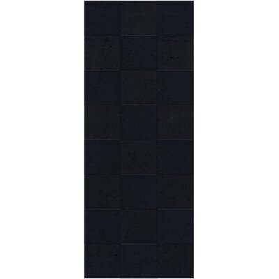 Dover Tufted Wool Black Area Rug Rug Size: Runner 26 x 8
