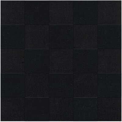 Dover Tufted Wool Black Area Rug Rug Size: Square 4