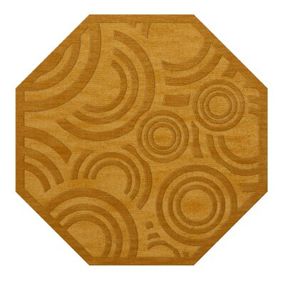 Dover Tufted Wool Butterscotch Area Rug Rug Size: Octagon 10