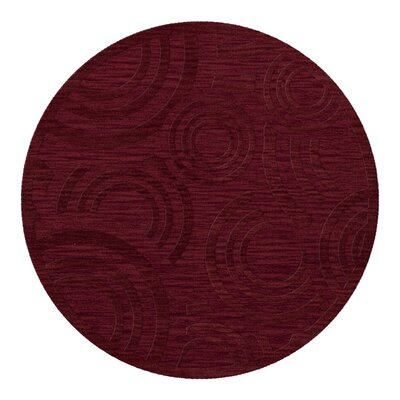 Dover Tufted Wool Rich Red Area Rug Rug Size: Round 8