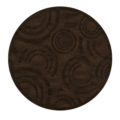 Dover Tufted Wool Fudge Area Rug Rug Size: Round 4