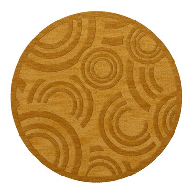 Dover Tufted Wool Butterscotch Area Rug Rug Size: Round 4