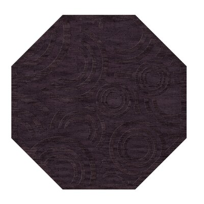 Dover Tufted Wool Grape Ice Area Rug Rug Size: Octagon 4