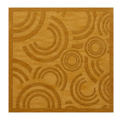 Dover Tufted Wool Butterscotch Area Rug Rug Size: Square 4