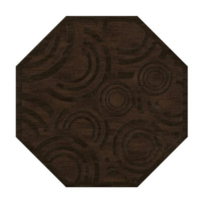 Dover Tufted Wool Fudge Area Rug Rug Size: Octagon 12