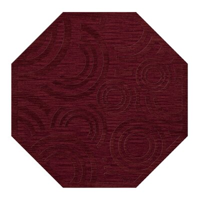 Dover Rich Red Area Rug Rug Size: Octagon 6