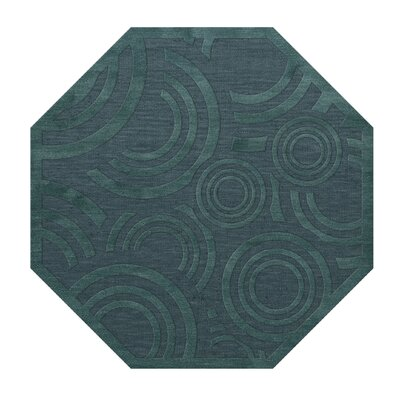 Dover Tufted Wool Teal Area Rug Rug Size: Octagon 6