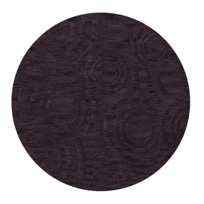 Dover Tufted Wool Grape Ice Area Rug Rug Size: Round 10